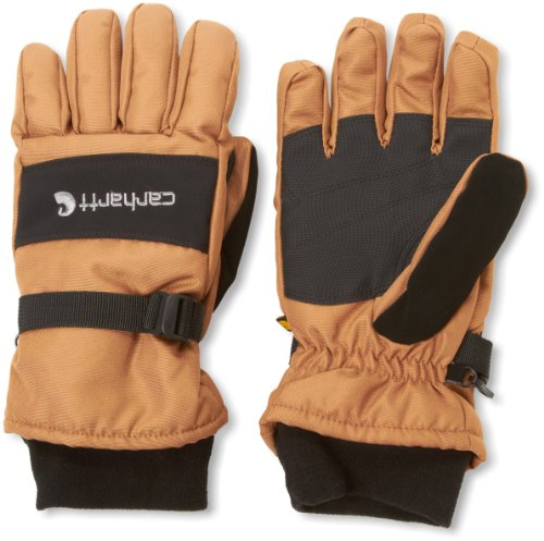 (Carhartt Men's W.p. Waterproof Insulated Work Glove, Brown/black, Large)