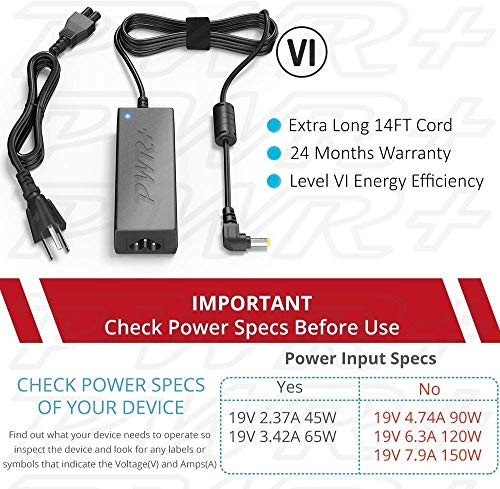Pwr 19V Power Adapter for Asus Router RT-AC88U AC3100: UL