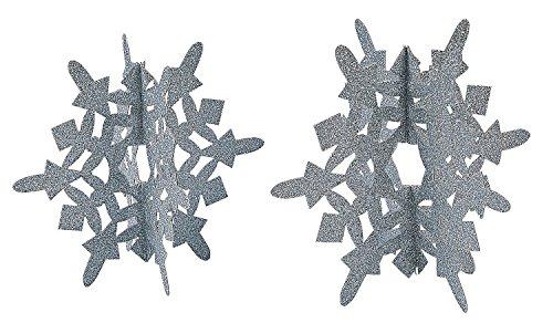 (Silver Glitter Snowflake Centerpiece (2 pcs. per set) 8 1/2