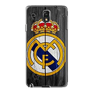 WayneSnook Samsung Galaxy Note 3 High Quality Hard Phone Cover Customized Lifelike Real Madrid Logo Skin [aXs209KOZW]
