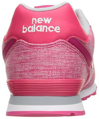 New Balance 574 High Visibility, Baskets Basses Mixte Enfant Rose