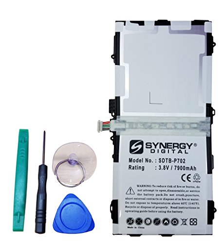 Samsung SM-T800 Tablet Battery Rechargeable Ultra High Capacity Embeeded Battery (Li-Pol 3.8V 7900mAh) - Replacement for Samsung EB-BT800FBC Battery - Installation Tools Included ()