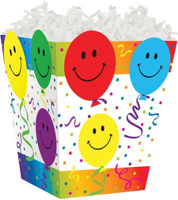 Smiley Balloons Sweet Treat Gable Boxes for Food Gift Basket