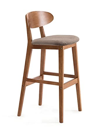 Stools Qiangzi Modern Wooden Chairs Retro Simple Solid Wood Bar