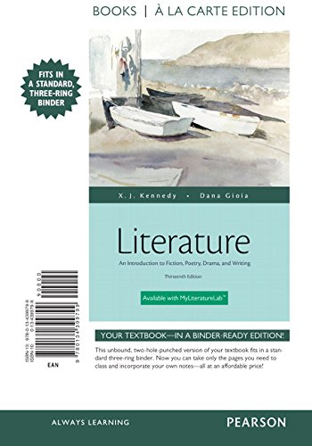 Literature: An Introduction to Fiction, Poetry, Drama, and Writing, Books a la Carte Plus REVEL -- Access Card Package (