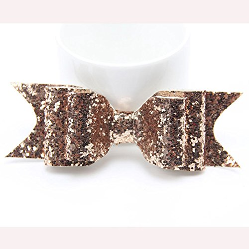 New Elegant Fashion Decor Accessories Woman Girls Hairpin Bowknot Barrette Crystal Hair Clip Bow Gift Champagne (Cb Champagne)