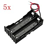 5Pcs DIY 2 Slot Series 18650 Battery Holder With 2 Leads