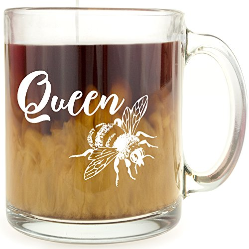 Queen Bee - Glass Coffee Mug