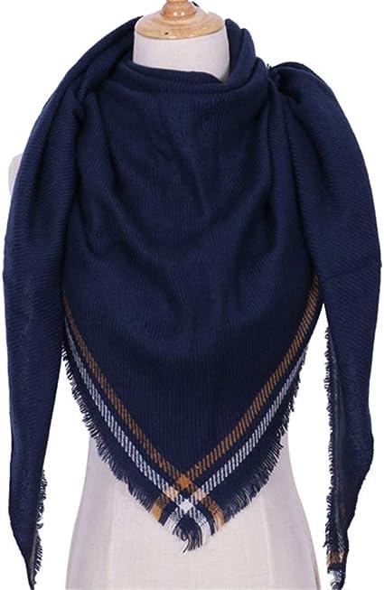 TALLA Talla única. AiNaMei Bufanda de cachemira de imitación mantón de otoño e invierno para mujer