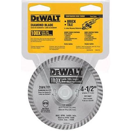 Dewalt dw4701 industrial 4 12 inch dry or wet cutting continuous dewalt dw4701 industrial 4 12 inch dry or wet cutting continuous rim keyboard keysfo Gallery