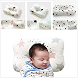 FreedomDesign Newborn Baby Pillow, with Breathable 3-Dimentional Air Mesh and Washable Natural Cotton, Adjustable Height which Prevent Flat Head Syndrome; a Perfect Baby Shower Gift. (Star-Pink)