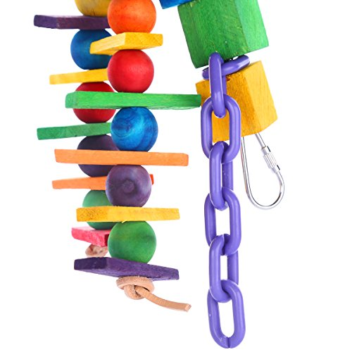 Bvanki-Parrot-Toy-Colurful-Rainbow-Bridge-ChewingHanging-Toy-Parrot-Nest-Suitable-For-A-Wide-Variety-Of-Large-and-Small-Parrots-And-Birds