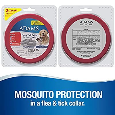 Adams 100526751 Flea and Tick Collar for Dogs and Puppies, One Size (Pack of 2) from Farnam Companies, Inc.