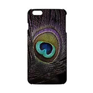 Wish-Store Beautiful peacock feather 3D Phone Case for iPhone 6 plus Kimberly Kurzendoerfer