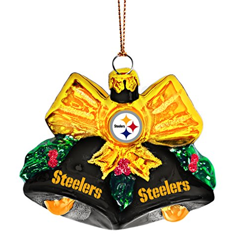 NFL Pittsburgh Steelers Glitter Bells Ornament
