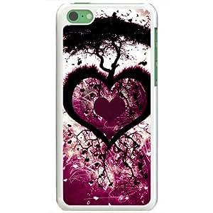 Apple iPhone 5C Case EMO Love Love Heart Love Tree Normal Love White