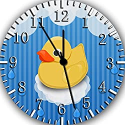 Rubber Duckie Borderless Frameless Wall Clock E403 Nice For Decor Or Gifts