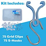 SharpTank Ceiling Grid Clips   150 Pc Kit of Clear