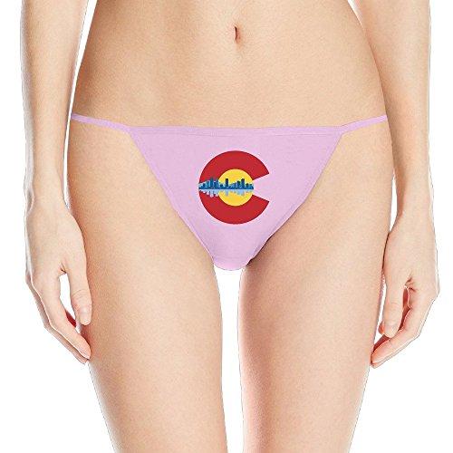Colorado Denver Skyline Flag Womens G-string Thong Panty
