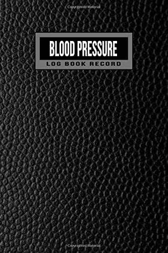 Blood Pressure Log Book Record: 2 year 104 Weeks of Daily Readings | 4 Readings a Day with Time, Blood Pressure, Heart Rate, Weight & Comment Notes (Faux Black Leather)