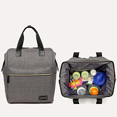 bigforest maternidad multifuncional momia bolsa de viaje Fashion Tote bolso mochila bebé pañales para pañales bolso cambiador