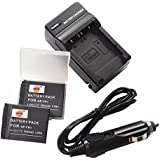DSTE® 2x NP-FR1 Battery + DC02 Travel and Car Charger Adapter for Sony Cyber-shot DSC-F88 P100 P100PP P120 P150 P200 T30 T50 V3 Digital Camera