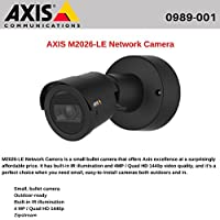 Axis Communications M2026-LE Outdoor Day&Night 4MP Network Bullet Camera with 2.4mm Fixed Lens, Up to 25/30 fps, H.264, MJPEG, PoE, Black