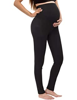 7defeaf5b0a2e PrettyLife Womens Maternity Leggings Modal Over Belly Pregnancy Stretchy  Tights