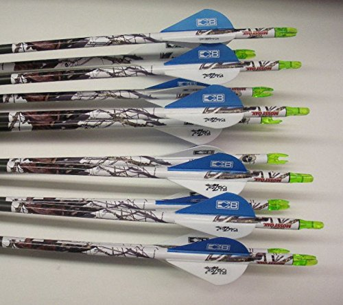 Carbon Express Maxima Blue Streak 250 Carbon Arrows w/Blazer Vanes /Wraps1 Dz.