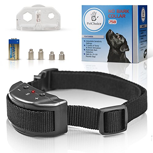 PetChoice@ Bark Collar [HUMANITY DEVICE] - Dog Shock Beep Anti-Barking Collar - No Bark Safe Control for Small-Medium-Large Dogs - Smart Chip - Stop Barking device - Adjustable Size