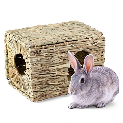 Yinrunx Pet Grass Cage Small Animals Natural Non-toxic Chew Toy Bed Grass House For Hamster Small Pets Hut And Durable Hamster Rabbit Mat by Yinrunx