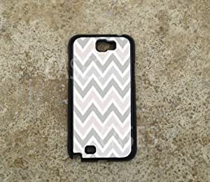 Galaxy Note 2 Cases, Pink Grey Chevron Pattern Top Designer Cover