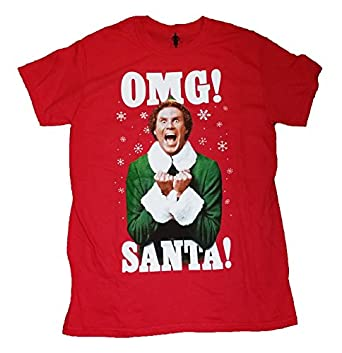 Amazon.com: Christmas Elf OMG! Santa! Graphic T-Shirt: Clothing