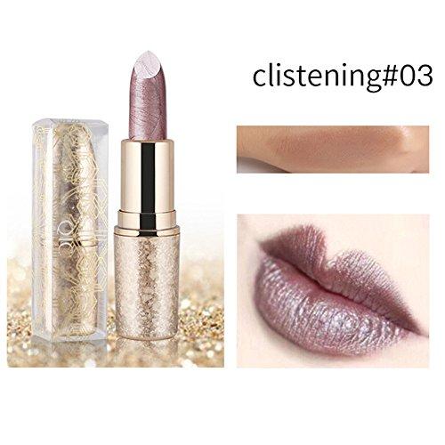 Christmas Snowflake Lipstick Moisturizing Long Lasting (3#)