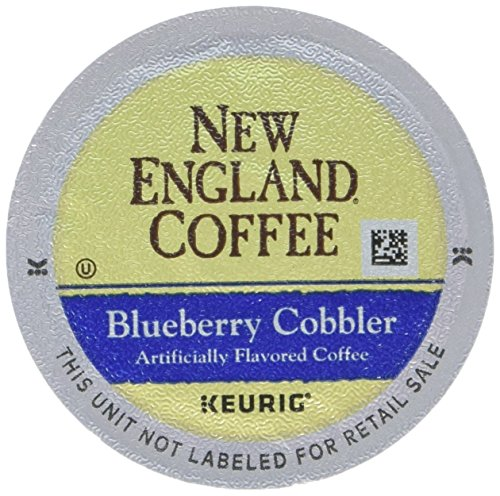 Boyers Coffee French Roast - New England Coffee Blueberry Cobbler, Keurig K-Cups, 12 Count