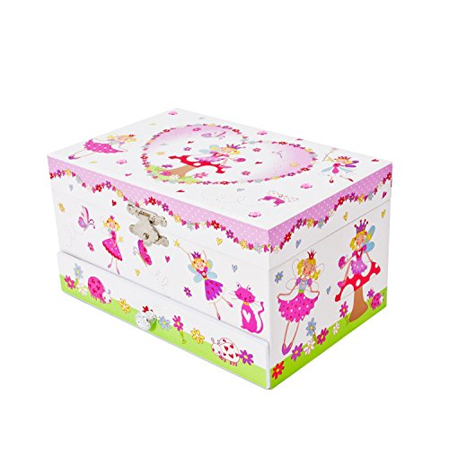 Enchanted Fairy Tale Kids Musical Jewellery Box Glittery Kids Music Box with Ring Holder Lucy Locket