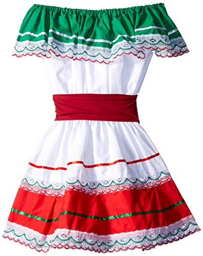 Alexanders Costumes 11-314/6 Mexican Fiesta Dress, Multicolor]()