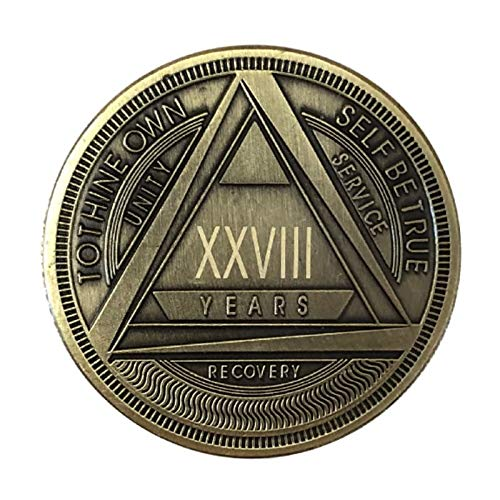 MyRecoveryStore AA Coin with Roman Numeral Alcoholics Anonymous (1-50 Years) (Year 28)