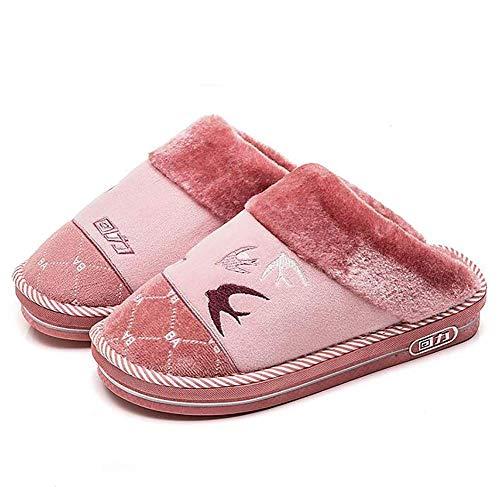 Forro Rojo Para De Chanclas 37 37 Suelas color 36 Antideslizantes Interiores Rosa Invierno Fuweiencore Furry Tamaño Calientes 36 Zapatillas Rojo Mujer Home Felpa qgFUwnAP