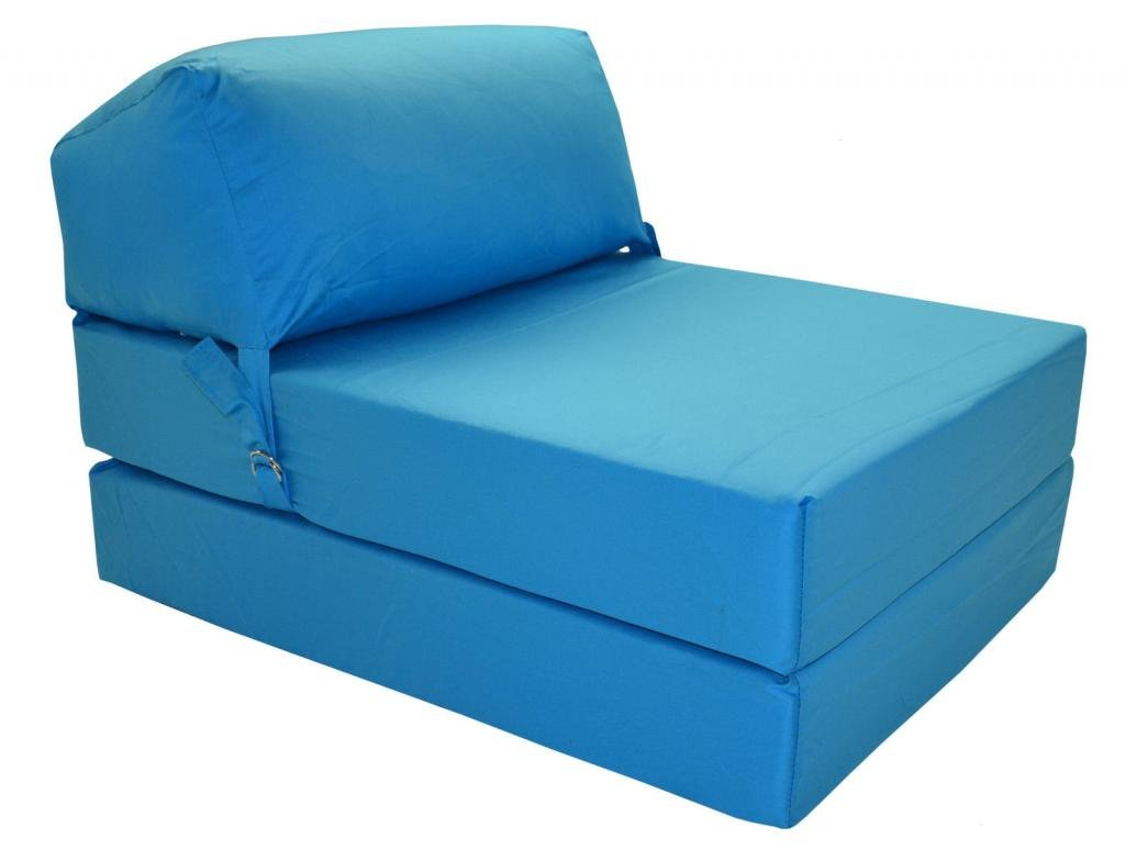 Single sofa bed chair uk - Jazz Chairbed Aqua Blue Deluxe Single Chair Bed