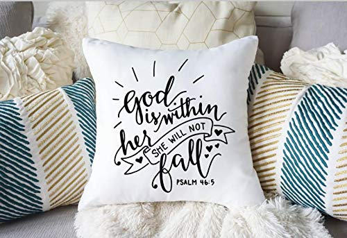 Bible Verse Pillow Case - Gift for Pastors Wife - Gift for Mom - Throw Pillow Cover - Decorative Pillow - Mom Cushion Cover - Gift for -