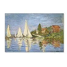 Trademark Fine Art Regatta at Argenteuil by Claude Monet Canvas Wall Artwork, 16 by 24-Inch
