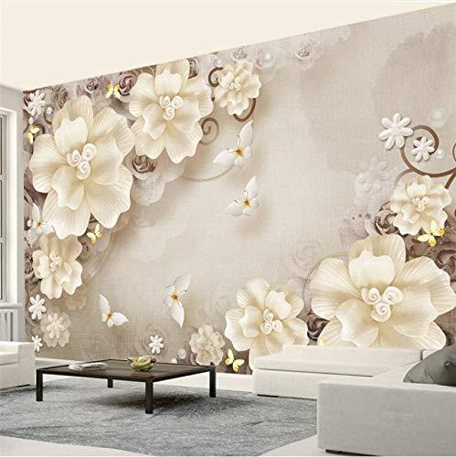 Lifme カスタム 壁紙 3D 写真 壁画 Hd エンボス ローズ パール 北欧 レトロ ジュエリー 背景 壁紙 DFGSDFAS-468493657 B07GLGK4YG  280x200cm