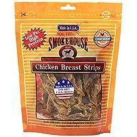Tiras de pechuga de pollo naturales 100 por ciento de Smokehouse Tiras para perros, 8 onzas