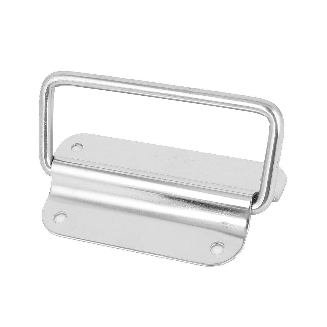 sourcingmap/® Scatola di strumenti in acciaio inossidabile 90 gradi maniglia baule Tono argentato 4 lunghezza 2pz