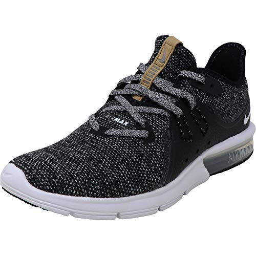 Nike Air Max Sequent 3 Size 8.5 Womens Running Black/White-Dark Grey Shoes