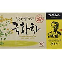 Organic Chrysanthemum Floral Tea Korean 40 Tea bags, Eyes, Insomnia, Fever