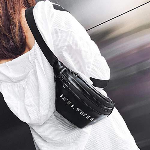 pelle Cintura da Black cerniera Cintura da in viaggio con Borsa donna viaggio da AqnxnU7z