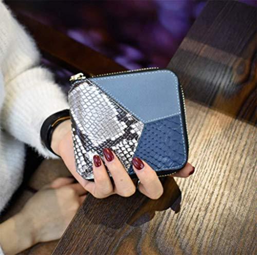 PALLDDY Moda Pelle Gray Pieghevoli Contrasto Donna In Moda Nuova Versione Coreana Cuciture Da Gray Portafoglio Colore Marea Pelle Breve Portafoglio Della Piccolo rXrxqfwgd