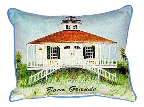 Betsy Drake Boca Grande Lighthouse Pillow, 20